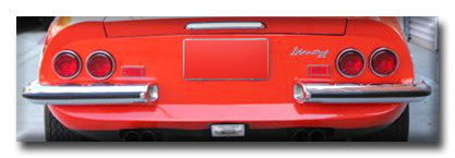 Lyle Tanner Ferrari Parts - 246 Dino Rear Lights and Lenses